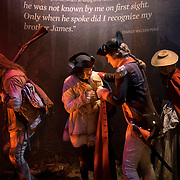 Thursday,  February 23, 2017, The Museum of the American Revolution has installed more than 15 incredibly lifelike figures in a series of historical vignettes that recreate particular moments during the American Revolution. These figures aim to personalize the wide range of people who were involved in the Revolution before the age of photography. Here,Philadelphia's famous artist-brothers, James Peale and Charles Willson Peale, reuniting on the banks of the Delaware River in December 1776 after being separated during the war. Also in this tableaux are a woman camp-follower and her child.   ED HILLE . Staff Photographer