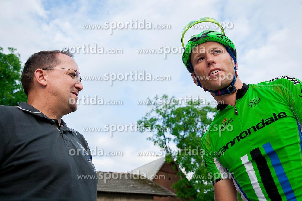 Martin Hvastija and Kristjan Koren of Cannondale after the Slovenian Road Cyling Championship 2013 on June 23, 2013 in Gabrje, Slovenia. (Photo by Vid Ponikvar / Sportida.com)