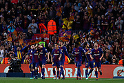 FC Barcelona celebrates the 1-0 during the Spanish championship La Liga football match between FC Barcelona and Real Madrid on May 6, 2018 at Camp Nou stadium in Barcelona, Spain - Photo Andres Garcia / Spain ProSportsImages / DPPI / ProSportsImages / DPPI