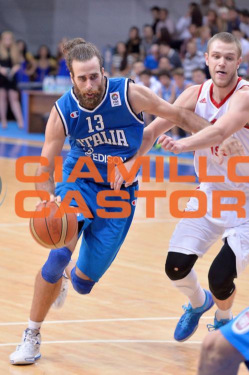 DESCRIZIONE : Mosca Moscow Qualificazione Eurobasket 2015 Qualifying Round Eurobasket 2015 Russia Italia Russia Italy<br /> GIOCATORE : Luigi Datome<br /> CATEGORIA : Palleggio<br /> EVENTO : Mosca Moscow Qualificazione Eurobasket 2015 Qualifying Round Eurobasket 2015 Russia Italia Russia Italy<br /> GARA : Russia Italia Russia Italy<br /> DATA : 13/08/2014<br /> SPORT : Pallacanestro<br /> AUTORE : Agenzia Ciamillo-Castoria/GiulioCiamillo<br /> Galleria: Fip Nazionali 2014<br /> Fotonotizia: Mosca Moscow Qualificazione Eurobasket 2015 Qualifying Round Eurobasket 2015 Russia Italia Russia Italy<br /> Predefinita :