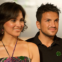 MACAU, CHINA - JUNE 11:  Singer Peter Andre and Indian actress and Lara Dutta pose aftee a news conference during the 2009 International Indian Film Academy Awards at the Venetian Macao-Hotel-Resort on June 11, 2009 in Macau.  Photo by Victor Fraile / studioEAST