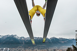 02.01.2016, Bergisel Schanze, Innsbruck, AUT, FIS Weltcup Ski Sprung, Vierschanzentournee, Training, im Bild Peter Prevc (SLO) // Peter Prevc of Slovenia during his Practice Jump for the Four Hills Tournament of FIS Ski Jumping World Cup at the Bergisel Schanze, Innsbruck, Austria on 2016/01/02. EXPA Pictures © 2016, PhotoCredit: EXPA/ JFK
