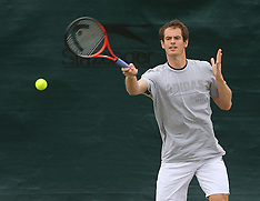 JULY 02 2013 Andy Murray training at Wimbledon