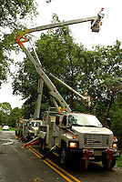 PSE&G Truck and Crew Working on the Downed Power Line. Hurricane Irene. Image taken with a Leica X1 camera.