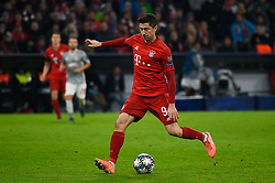November 6, 2019, Munich, Germany: Robert Lewandowski from Bayern seen in action during the UEFA Champions League group B match between Bayern and Olympiacos at Allianz Arena in Munich. (Credit Image: © Bruno De Carvalho/SOPA Images via ZUMA Wire)