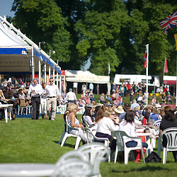 Spectators arriving early for the start of Dressage Day 2