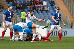 March 16, 2019 - Rome, Rome, Italy - Tito Tebaldi during the Guinness Six Nations match between Italy and France at Stadio Olimpico on March 16, 2019 in Rome, Italy. (Credit Image: © Emmanuele Ciancaglini/NurPhoto via ZUMA Press)