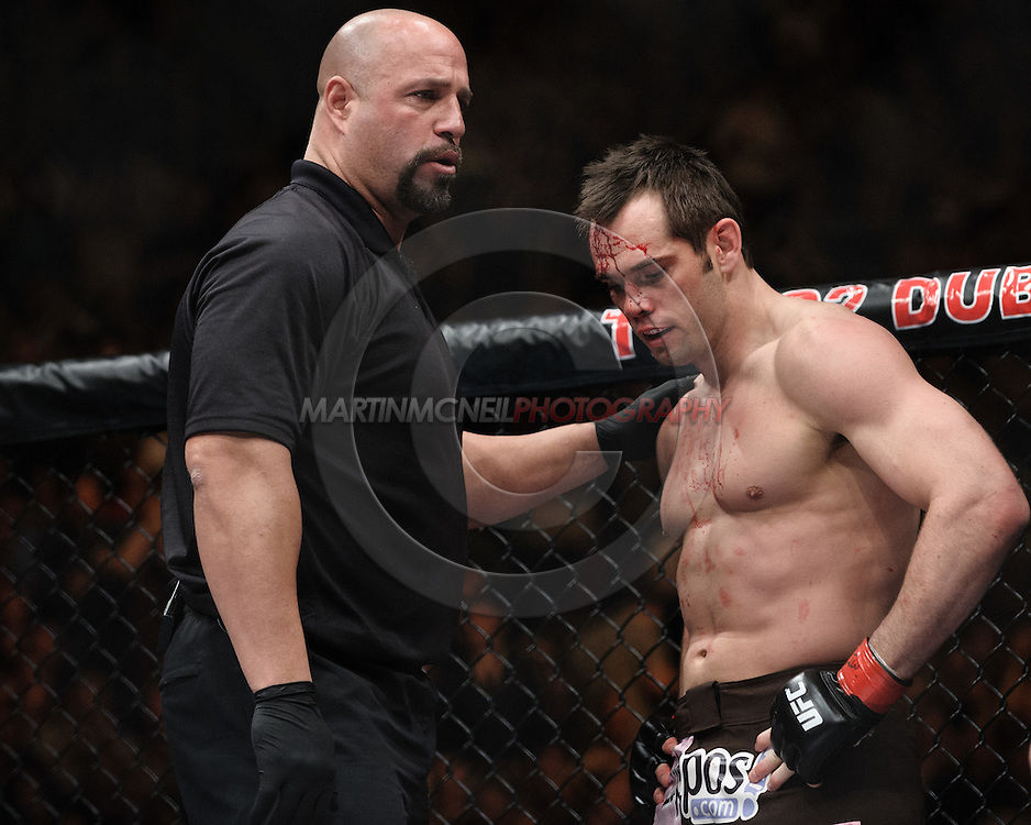 "DUBLIN, IRELAND, JANUARY 17, 2009: Action from ""UFC 93: Franklin vs. Henderson"" inside the O2 Arena in Dublin, Ireland"