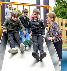 First Minister opens Scotland's largest inclusive play park, Dunfermline, 4 June 2018