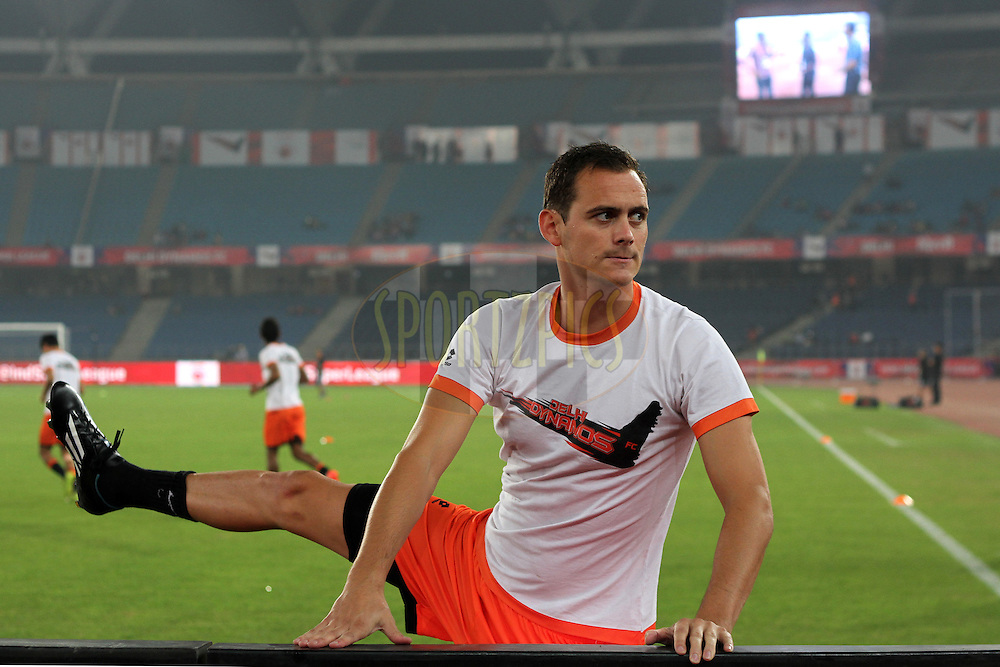 Wim Raymaekers of Delhi Dynamos FC warm up before the  match 16 of the Hero Indian Super League between The Delhi Dynamos FC and NorthEast United FC held at the Jawaharlal Nehru Stadium, Delhi, India on the 29th October 2014.<br /> <br /> Photo by:  Deepak Malik/ ISL/ SPORTZPICS