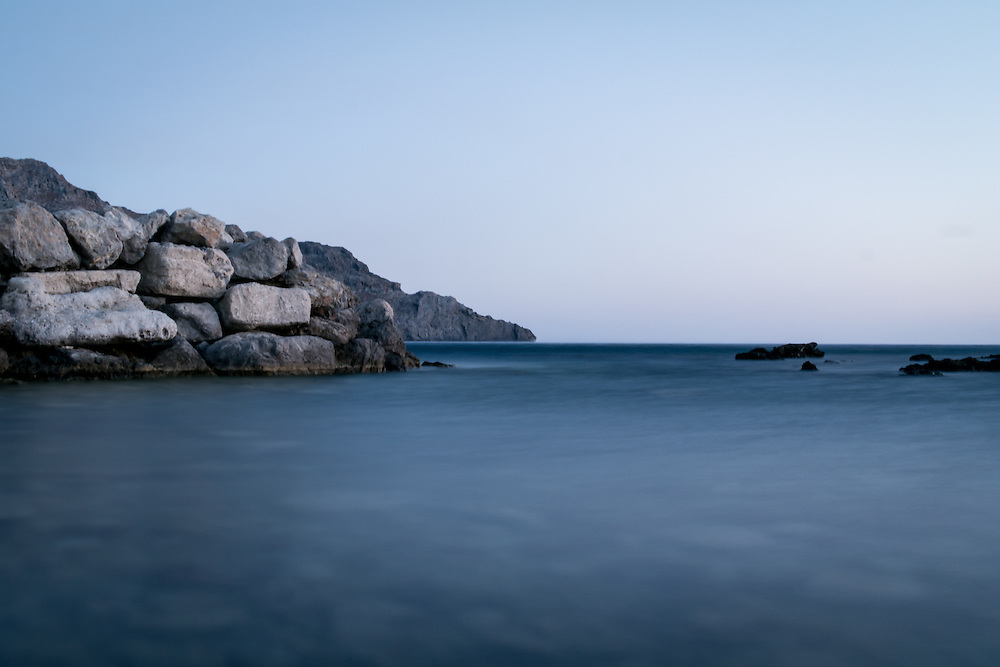 The Lybian Sea in Plakias located at the island of Crete in Greece.