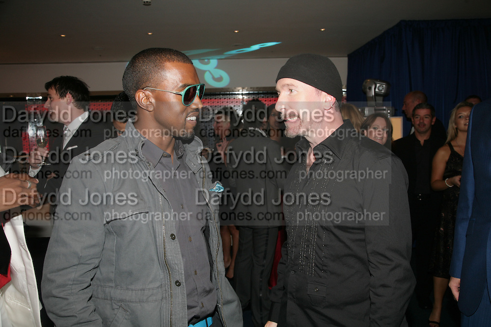 Kanye West and The Edge, GQ Men of The Year. Royal Opera House. Covent Garden. 4 September 2007. -DO NOT ARCHIVE-© Copyright Photograph by Dafydd Jones. 248 Clapham Rd. London SW9 0PZ. Tel 0207 820 0771. www.dafjones.com.