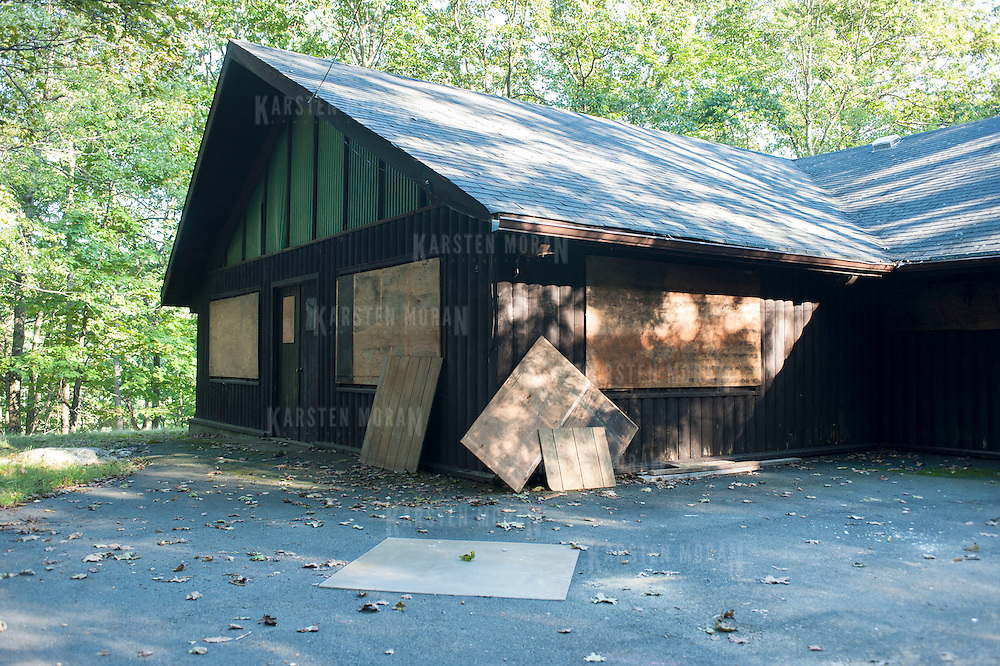 September 12, 2012 - Haverstraw, NY : A dilapitated building at camp K-13 in Harriman State Park is in need of restoration.  An infusion of capital construction money should make an overhaul of the building possible. CREDIT: Karsten Moran for The New York Times