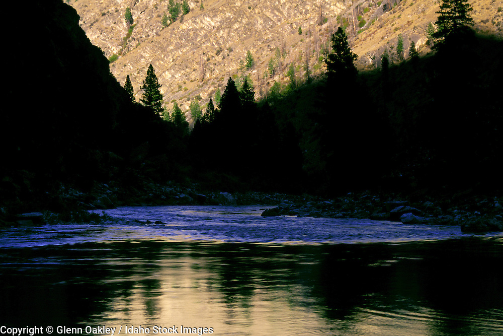 Sunset in impassable canyon, Middle Fork Salmon River, Frank Church Wilderness, Idaho.