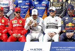 March 17, 2019 - Melbourne, Australia - Motorsports: FIA Formula One World Championship 2019, Grand Prix of Australia, ..#5 Sebastian Vettel (GER, Scuderia Ferrari Mission Winnow), #44 Lewis Hamilton (GBR, Mercedes AMG Petronas Motorsport), #77 Valtteri Bottas (FIN, Mercedes AMG Petronas Motorsport), #10 Pierre Gasly (FRA, Aston Martin Red Bull Racing) (Credit Image: © Hoch Zwei via ZUMA Wire)