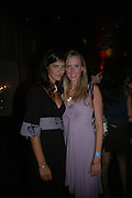 Lea Stam and Daisy Bell. Manhattan A* List party in aid of the British Dyslexia association. Raffles nightclub. King's Rd. London. 29 August 2005. ONE TIME USE ONLY - DO NOT ARCHIVE  © Copyright Photograph by Dafydd Jones 66 Stockwell Park Rd. London SW9 0DA Tel 020 7733 0108 www.dafjones.com