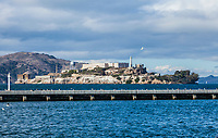 Alcatraz Island in San Fransisco Bay, San Fransisco, California, USA.