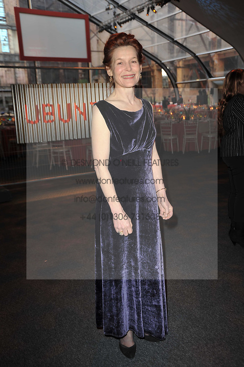 Actress ALICE KRIGE at a gala evening in aid of Ubuntu Education Fund held at Battersea Power Station, London on 4th May 2011.