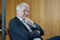 01 JUL 2019, BERLIN/GERMANY:<br /> Horst Seehofer, CSU, Bundesinnenminister, waehrend einem Interview, in seinem Buero, Bundesministerium des Inneren<br /> IMAGE: 20190701-01-008<br /> KEYWORDS: Büro
