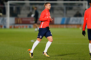 Jason Demetriou warms up before the EFL Sky Bet League 1 match between Burton Albion and Southend United at the Pirelli Stadium, Burton upon Trent, England on 3 December 2019.