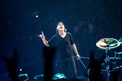 © Licensed to London News Pictures . 28/10/2017 . Manchester , UK . Lars Ulrich . Metallica perform at the Manchester Arena . Photo credit : Joel Goodman/LNP