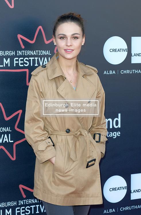 Edinburgh International Film Festival, Thursday, 21st June 2018<br /> <br /> JUROR PHOTOCALL<br /> <br /> Pictured: Sophie Skelton<br /> <br /> (c) Aimee Todd   Edinburgh Elite media