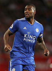 Leicester City's Wes Morgan during the Premier League match at Old Trafford, Manchester