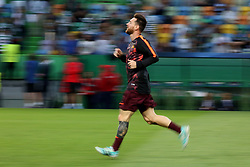 September 27, 2017 - Lisbon, Portugal - Barcelona's Argentine forward Lionel Messi warms up before the UEFA Champions League football match Sporting vs Barcelona at the Alvalade stadium in Lisbon, Portugal on September 27, 2017. Photo: Pedro Fiuza  (Credit Image: © Pedro Fiuza/NurPhoto via ZUMA Press)