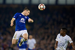 LIVERPOOL, ENGLAND - Saturday, January 7, 2017: Everton's Leighton Baines in action against Leicester City during the FA Cup 3rd Round match at Goodison Park. (Pic by David Rawcliffe/Propaganda)