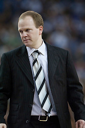 November 27, 2009; Sacramento, CA, USA;  New Jersey Nets head coach Lawrence Frank during the third quarter against the Sacramento Kings at the ARCO Arena. Sacramento defeated New Jersey 109-96.