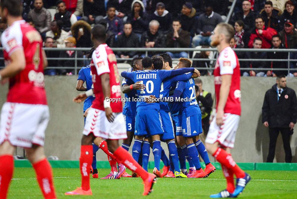 Joie Lyon / Deception Reims - 26.04.2015 - Reims / Lyon - 34eme journee de Ligue 1<br />Photo : David Winter / Icon Sport
