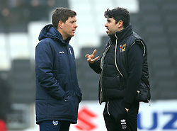 Bristol Rovers manager Darrell Clarke and Milton Keynes Dons manager Dan Micciche - Mandatory by-line: Robbie Stephenson/JMP - 03/03/2018 - FOOTBALL - Stadium MK - Milton Keynes, England - Milton Keynes Dons v Bristol Rovers - Sky Bet League One