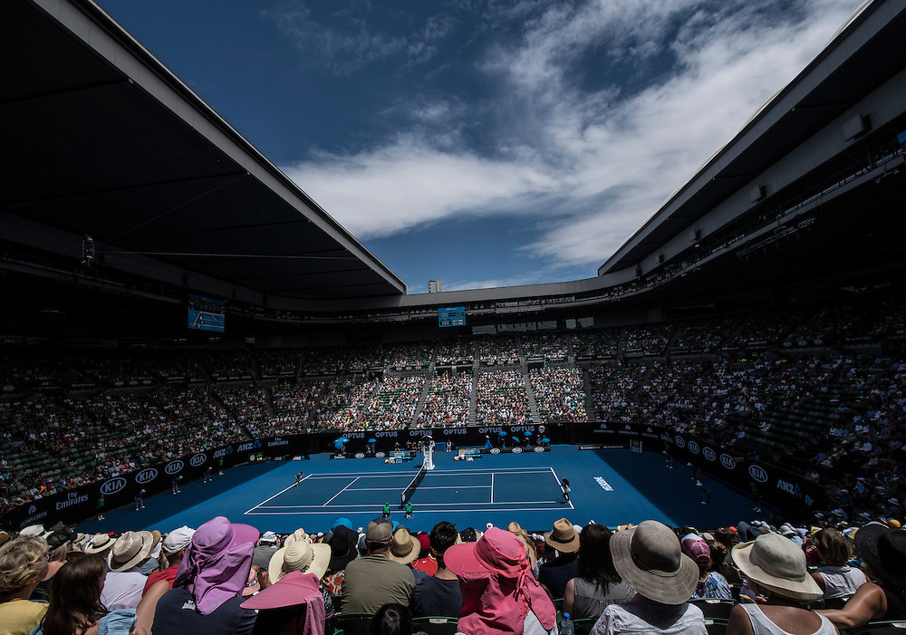 A general view of Rod Laver Arena on day eight of the 2017 Australian Open at Melbourne Park on January 23, 2017 in Melbourne, Australia.<br /> (Ben Solomon/Tennis Australia)