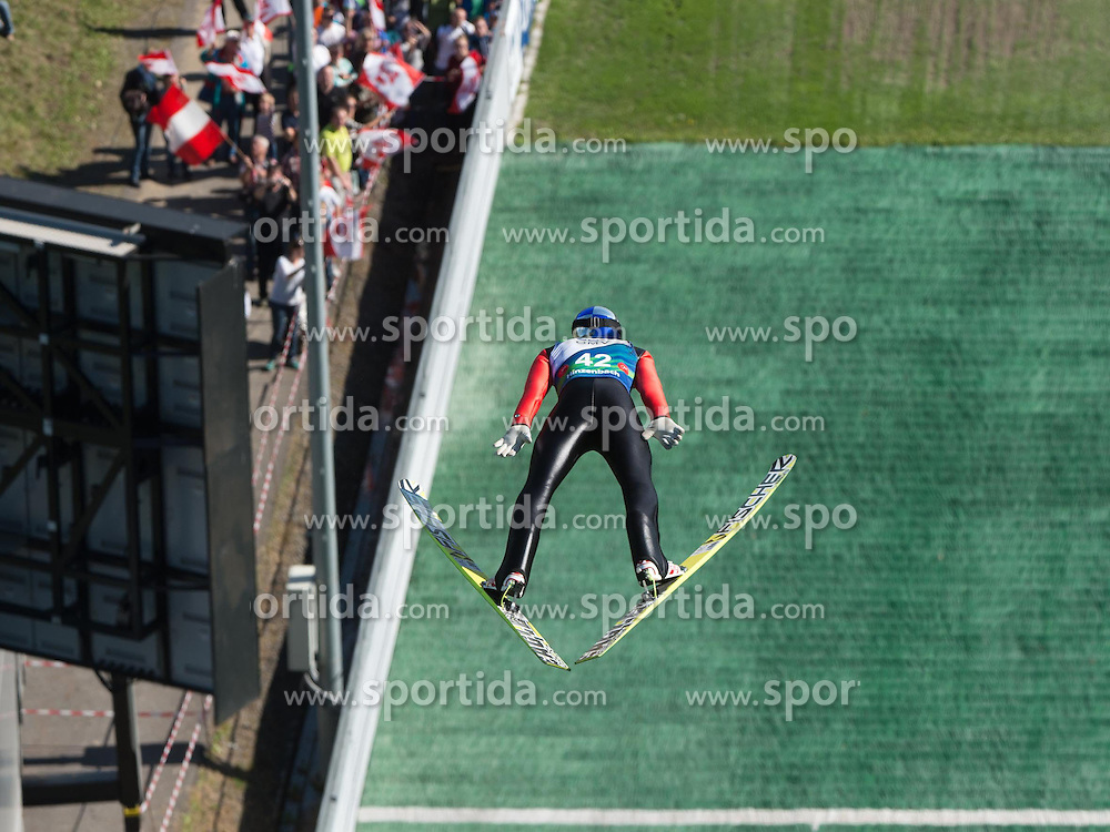 28.09.2014, Energie AG Skisprung Arena, Hinzenbach, AUT, FIS Ski Sprung, Sommer Grand Prix, Hinzenbach, im Bild Gregor Schlierenzauer (AUT) during FIS Ski Jumping Summer Grand Prix at the Energie AG Skisprung Arena, Hinzenbach, Austria on 2014/09/28. EXPA Pictures © 2014, PhotoCredit: EXPA/ Reinhard Eisenbauer