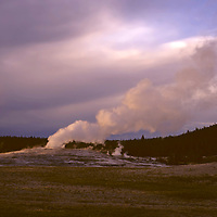 North America, USA, United States, Wyoming, Yellowstone National Park. Old Faithful Geyser.