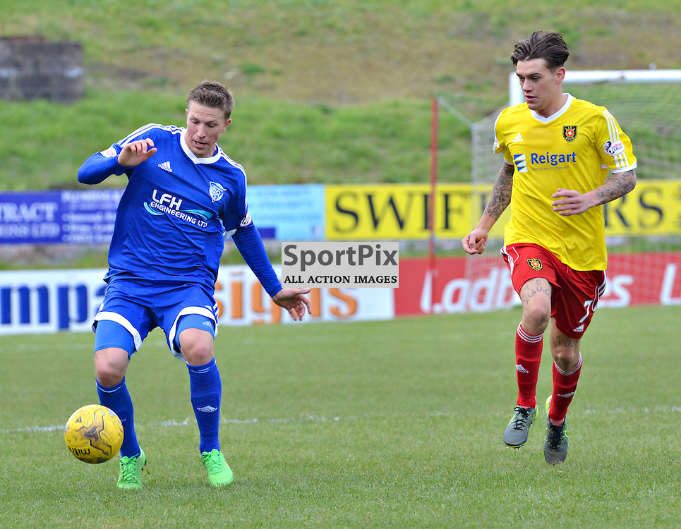 Kevin Dzierzawski of Peterhead in action against the Wee Rovers......(c) BILLY WHITE | SportPix.org.uk