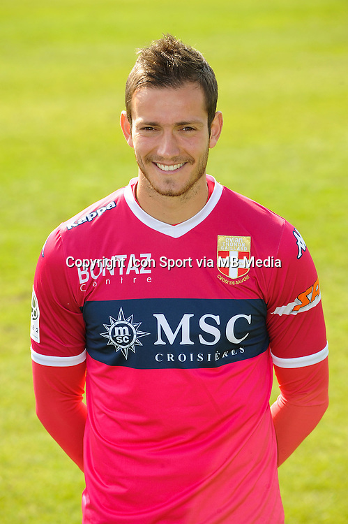 Benjamin LEROY - 29.09.2015 - Photo officielle - Evian Thonon - Ligue 2<br /> Photo : Jean Paul Thomas / Icon Sport