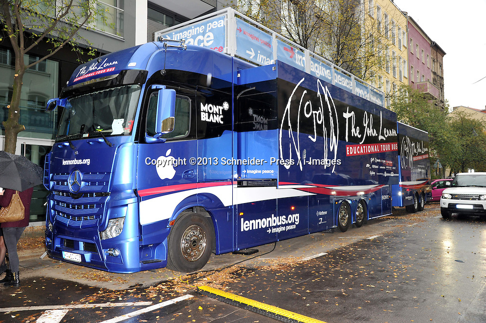 The 'John Lennon Educational Tour Bus ',  Berlin, Germany, Berlin, Germany on October 15, 2013. Picture by Schneider- Press / i-Images<br /> UK & USA ONLY
