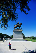 Image of the statue of Saint Louis at Forest Park in St. Louis, Missouri, American Midwest