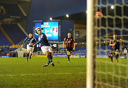James Vaughan of Birmingham City misses a penalty.- Mandatory byline: Alex James/JMP - 09/01/2016 - FOOTBALL - ST Andrew's Stadium - Birmingham, England - Birmingham City v AFC Bournemouth - FA Cup Third Round