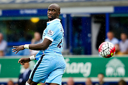 Eliaquim Mangala of Manchester City heads the ball back to Joe Hart - Mandatory byline: Matt McNulty/JMP - 07966386802 - 23/08/2015 - FOOTBALL - Goodison Park -Everton,England - Everton v Manchester City - Barclays Premier League