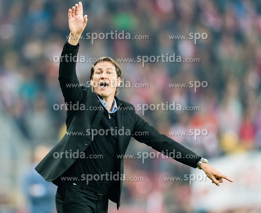 03.05.2018, Red Bull Arena, Salzburg, AUT, UEFA EL, FC Salzburg vs Olympique Marseille, Halbfinale, Rueckspiel, im Bild Trainer Rudi Garcia (Olympique Marseille) // during the UEFA Europa League Semifinal, 2nd Leg Match between FC Salzburg and Olympique Marseille at the Red Bull Arena in Salzburg, Austria on 2018/05/03. EXPA Pictures © 2018, PhotoCredit: EXPA/ Stefan Adelsberger