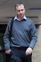 © Licensed to London News Pictures. 27/05/2015. London, UK. Former UBS and Citigroup trader Tom Hayes leaves Southwark Crown Court in London. Hayes appears charged with eight counts of conspiracy to defraud in relation to alleged manipulation and rigging of the Libor rate. Photo credit : Vickie Flores/LNP