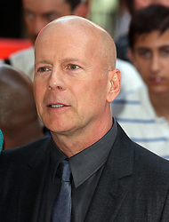 Red 2 UK film premiere.<br /> Bruce Willis during the premiere of the sequel to 2010's graphic novel adaption, about a group of retired assassins. <br /> Empire Leicester Square<br /> London, United Kingdom<br /> Monday, 22nd July 2013<br /> Picture by i-Images