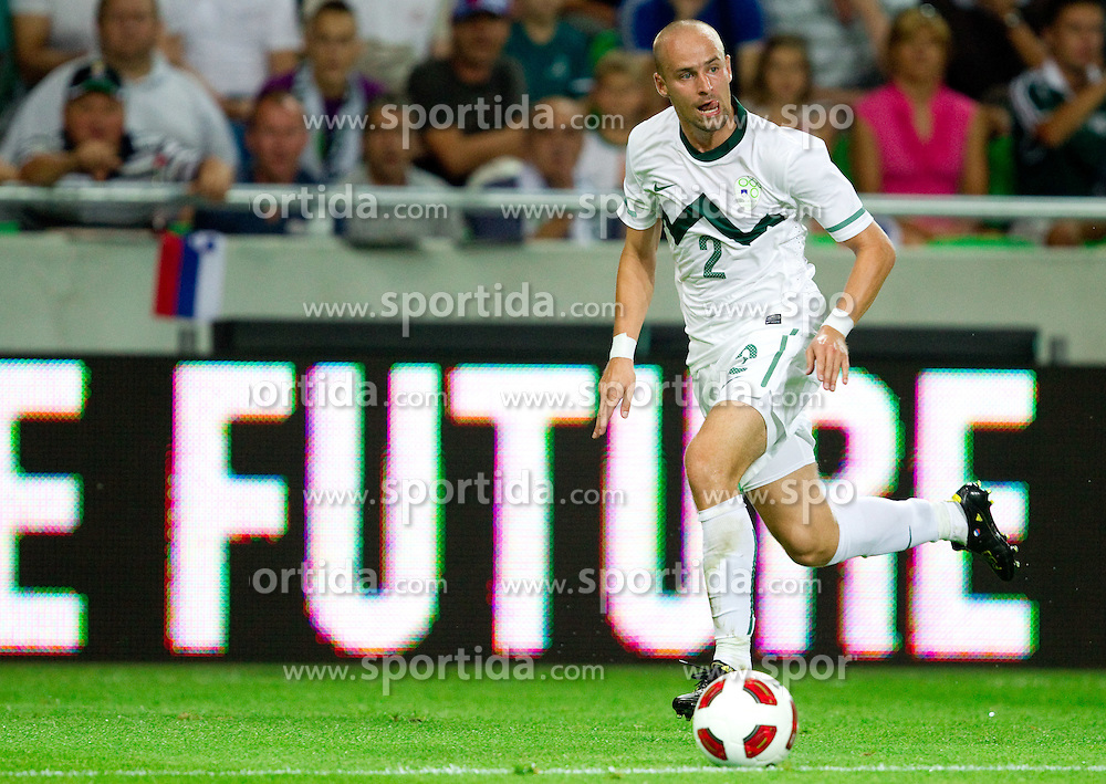 Miso Brecko of Slovenia during the opening friendly football match at a new stadium in Stozice between National teams of Slovenia and Australia on August 11, 2010 in Ljubljana. Slovenia defeated Australia 2-0. (Photo by Vid Ponikvar / Sportida)