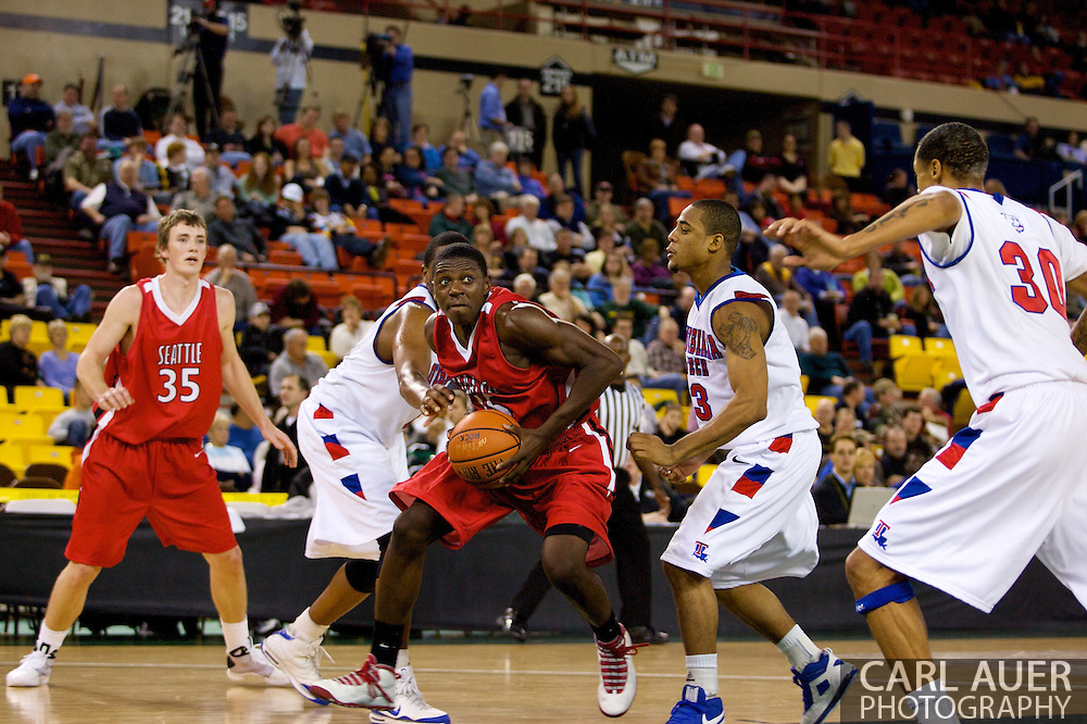 November 27, 2008: Seattle University guard Chris Gweth (15) explodes to the hoop in the opening round of the 2008 Great Alaska Shootout at the Sullivan Arena