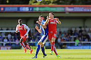 Goalscorers Matty Lund and Bobby Grant  during the EFL Sky Bet League 1 match between Rochdale and Fleetwood Town at Spotland, Rochdale, England on 17 September 2016. Photo by Daniel Youngs.
