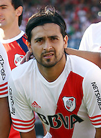 CAMPEONATO ARGENTINO Soccer / Football. <br /> RIVER PLATE () Vs QUILMES ()<br />  .Stadium Antonio Liberti (Monumental) , Bs.As. Argentina. - February 22, 2015<br /> Here River Plate player /riv/ and Quilmes /qui/<br /> © PikoPress