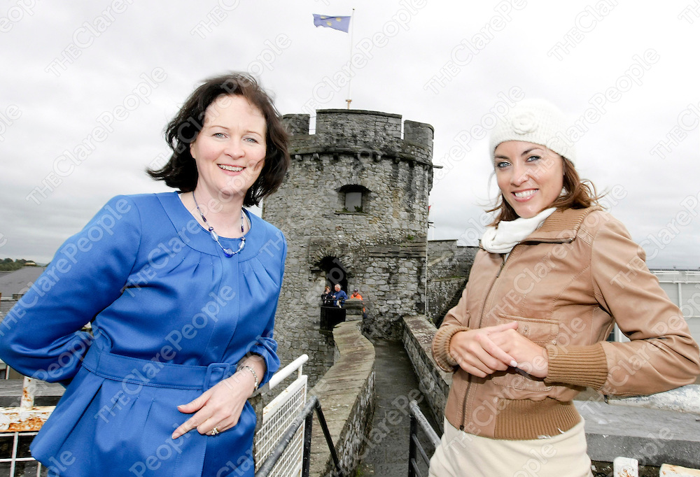 Limerick to feature on RTE TV holiday programme<br /> Kathryn Thomas, the RTE's 'No Frontiers' holiday programme presenter was in Limerick this week filming the city and surrounding area for a tourism feature for the new series of the programme which will run from January to April next year.<br /> Holidays in Limerick are expected to get a boost as a result of the programme which will feature accommodation, spa, shopping, culture visitor attractions and sporting facilities in Limerick including the new Thomond Park and soaking up the rugby atmosphere. The top Irish TV travel show which is produced for RTE by Frontier Films, is now in its 11th year and attracts over half a million viewers from all round Ireland. The programme can also be viewed on the RTE website and has a huge website following.<br /> The film shoot was secured for Limerick by Shannon Development who made a successful pitch to the programme producer earlier this year and subsequently organised the itinerary to suit the crew's filming schedule. The feature will focus on Limerick's appeal as a city breaks destination. Last year Shannon Development co-ordinated a successful family holiday feature on 'No Frontiers' which featured well known presenter and journalist Fiona Looney and her family enjoying a family holiday in Lahinch, Co. Clare.<br /> <br /> ?We are delighted to have been able to play our part in this exciting opportunity for Limerick City. It is the first time that Limerick has been featured on the programme and we are confident that it will boost visitor numbers,? says Olivia Loughnane, Shannon Development Director of Research and Communications. <br /> RTE presenter Kathryn Thomas (right)  is pictured here with Olivia Loughnane from Shannon Development enjoying the view from the top of King John's Castle in Limerick city which will feature in the new series of the RTE 'No Frontier' Holiday programme.Pic Arthur Ellis/Press22.