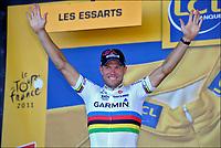 Sykkel<br /> Tour de France 2011<br /> 03.07.2011<br /> Foto: PhotoNews/Digitalsport<br /> NORWAY ONLY<br /> <br /> 2nd stage / ploegentijdrit / contre-la-montre par equipe / team time-trial / Les Essart / <br /> <br /> THOR HUSHOVD (TEAM GARMIN - CERVELO - NOR)